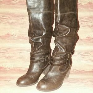 Diba Pilot Sz 8 knee high boots brown
